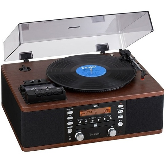 Teac lp r500 retro turntable tape deck and cd player - Lecteur vinyle retro ...