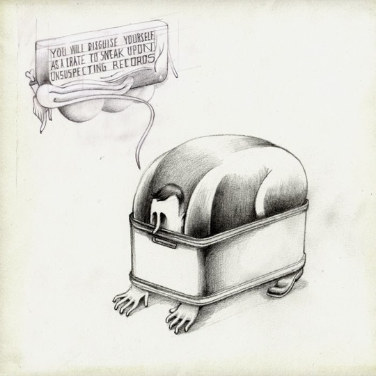 disguise crate Illustrator Stefan Glerum captures the insanity of Crate Digging | iCrates Magazine