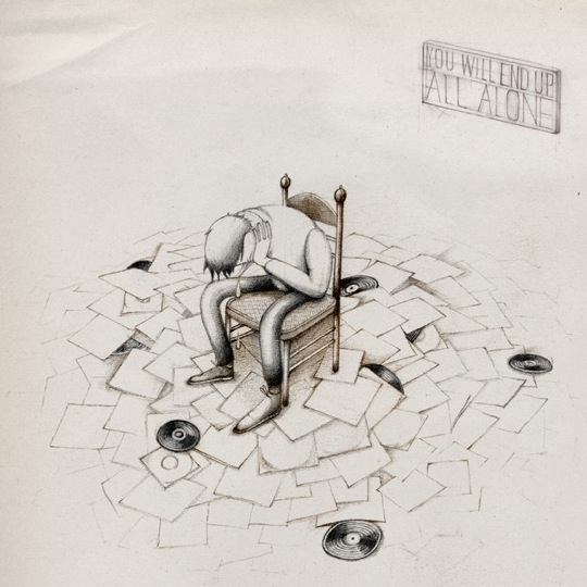 end up alone Illustrator Stefan Glerum captures the insanity of Crate Digging | iCrates Magazine